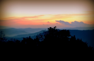 Sunset Behind WV Mountains  (Taken by Richard Flanigan)
